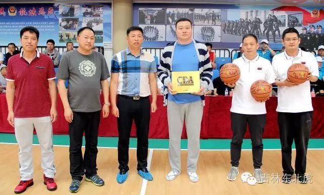 吉林东北虎俱乐部祝贺东丰县篮球联赛开幕图片